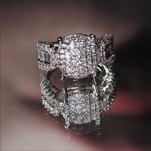 Sterling Silver Swavorski Crystal Ring